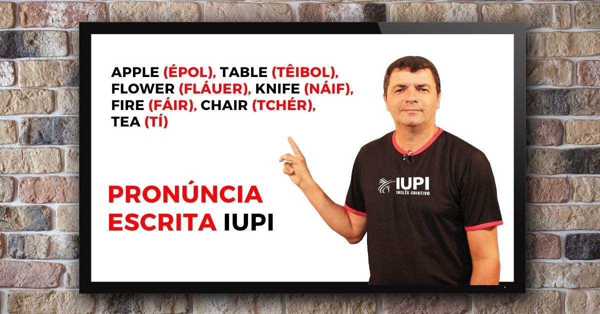 pronúncia escrita iupi
